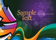 Colorful illustration background 02   vector material
