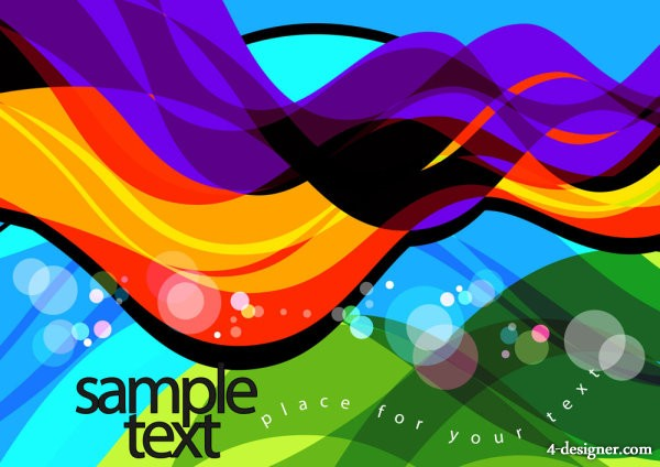 Colorful illustration background 03   vector material