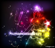 Colorful lights background Vector 01   Vector