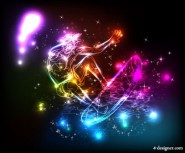 Colorful lights background Vector 05   Vector