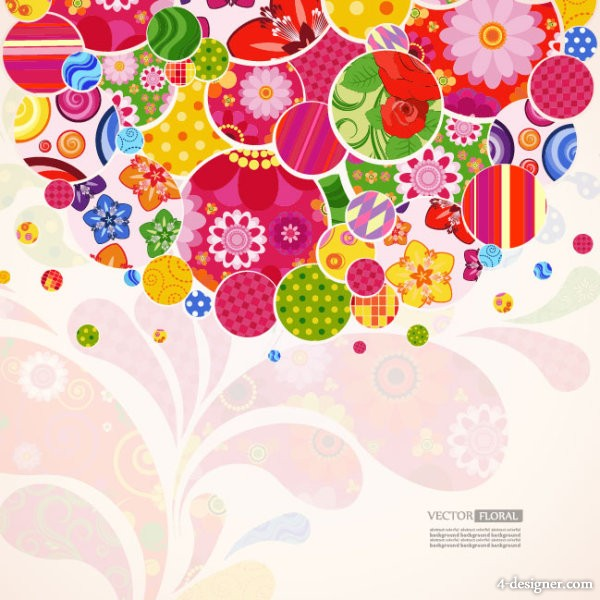 Colorful pattern background vector material 05   Vector