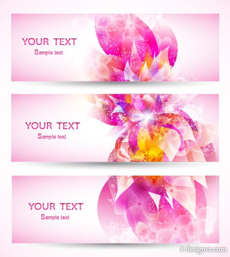 Colorful patterns banner02 Vector