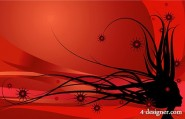 Cool background and dynamic female hair vector