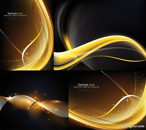 Cool dynamic light background Vector