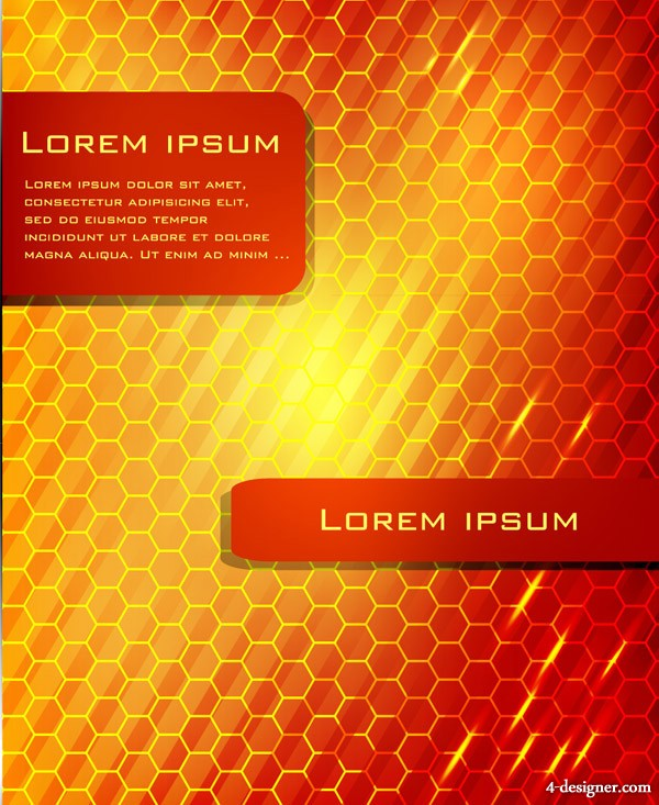 Cool glare background vector material  1