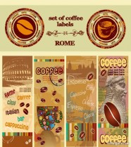 Creative coffee illustrator 02   vector material