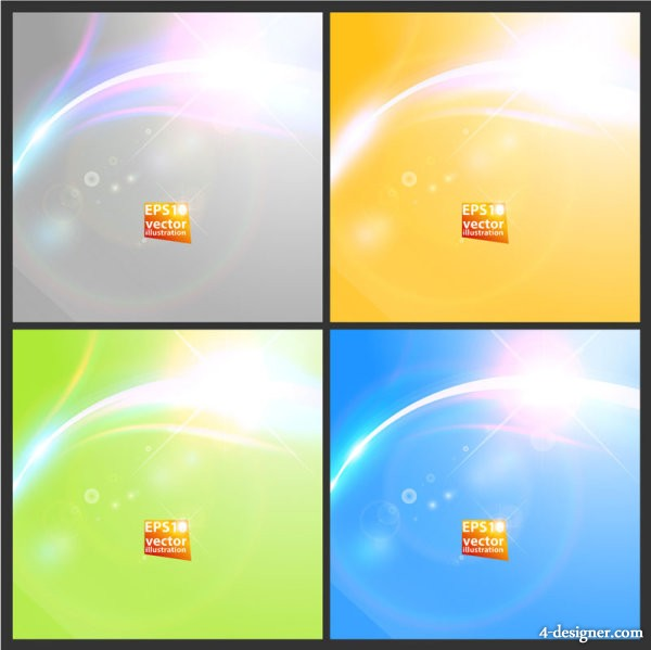 Dazzling starlight background 02   vector material