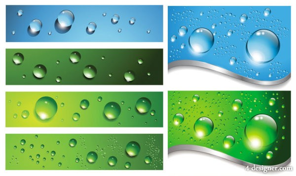 Drops background vector material