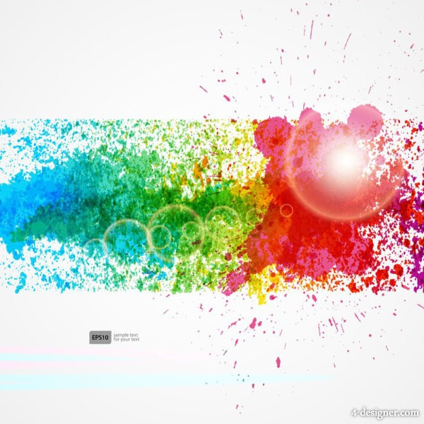Dynamic color background Vector 01   Vector