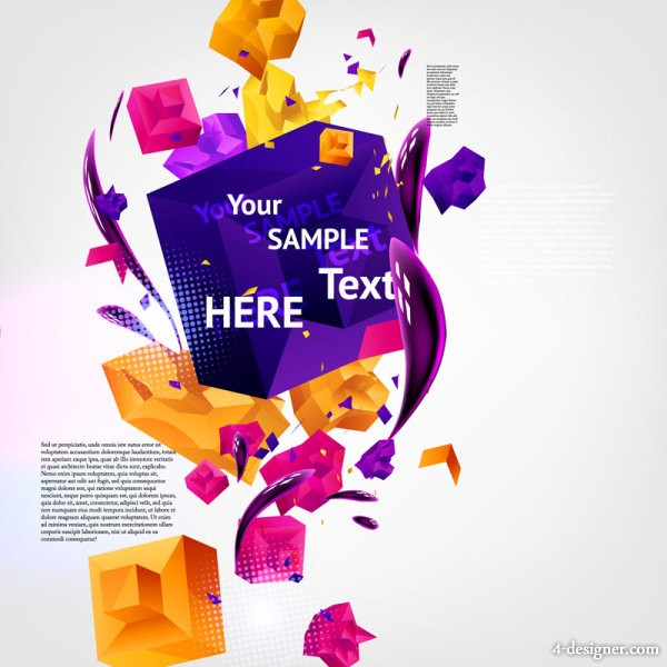 Dynamic three dimensional background Vector 03   Vector