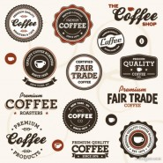 European coffee label 02   vector material