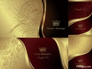 European gorgeous style vector material