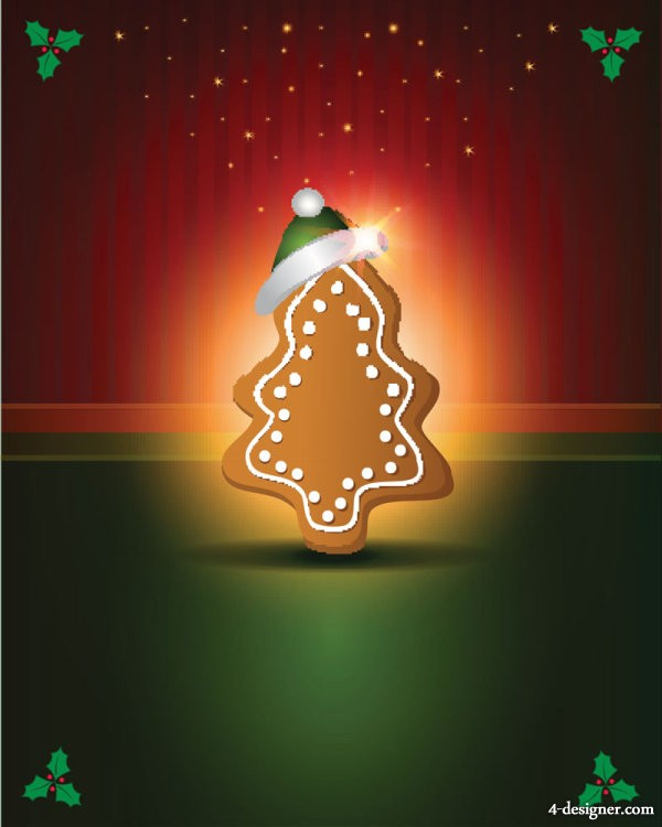 Exquisite Christmas 04   vector material