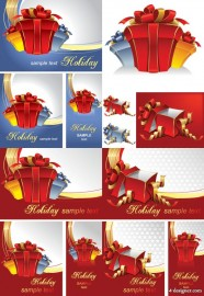 Exquisite gift box vector material   Vector