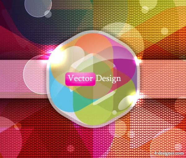 Exquisite trend background 04   vector material
