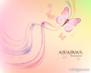 Fantasy background with butterflies vector material
