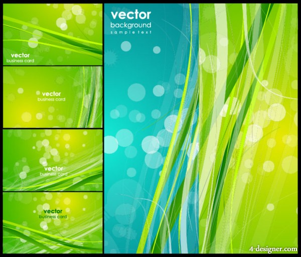 Fresh green fantasy background vector material