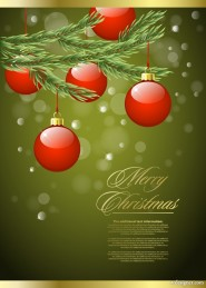 Gorgeous Christmas background 03   vector material