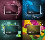Gorgeous card background 03   vector material