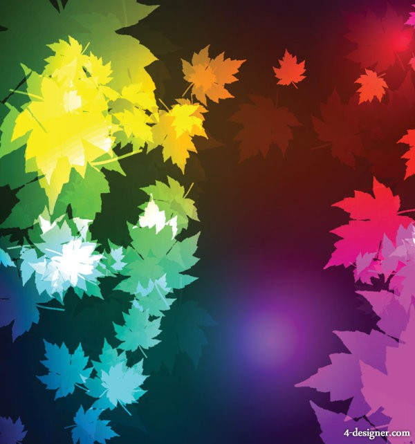 Gorgeous maple leaf background 02   vector material