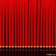 Gorgeous red curtain 03   vector material
