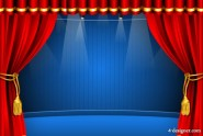 Gorgeous red curtain 04   vector material