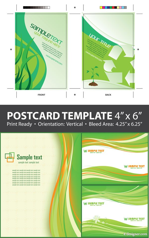 Green Packaging & background Vector