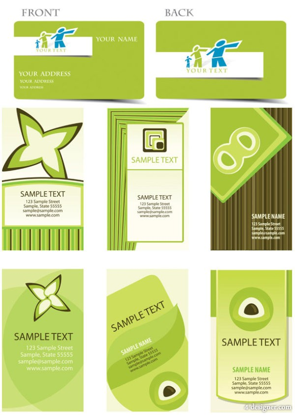 Green card background vector material