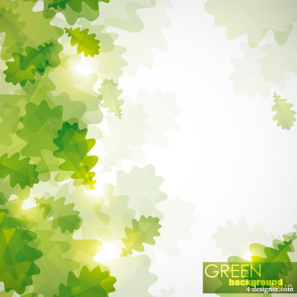 Green leafy background 04   vector material
