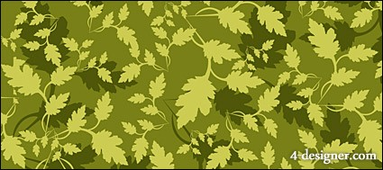 Green leaves background vector material