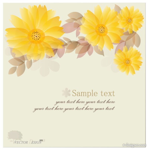 Halo flowers background vector material 01   Vector