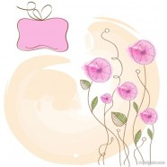 Hand painted flowers background Vector 01   Vector