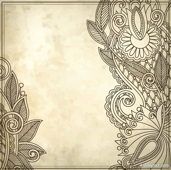 Hand painted patterns hand painted background 01   vector material