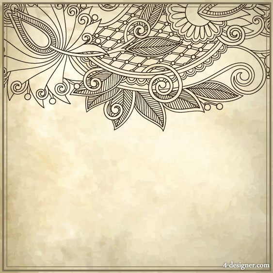 Hand painted patterns hand painted background 03   vector material