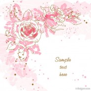 Hand painted romantic background Vector 01   Vector