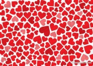 Heart shaped background vector material