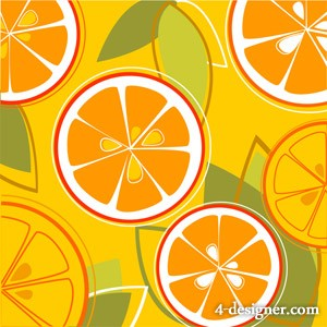 Oranges combination of vector background material
