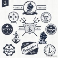 Paste the classic nautical marked 02 vector material