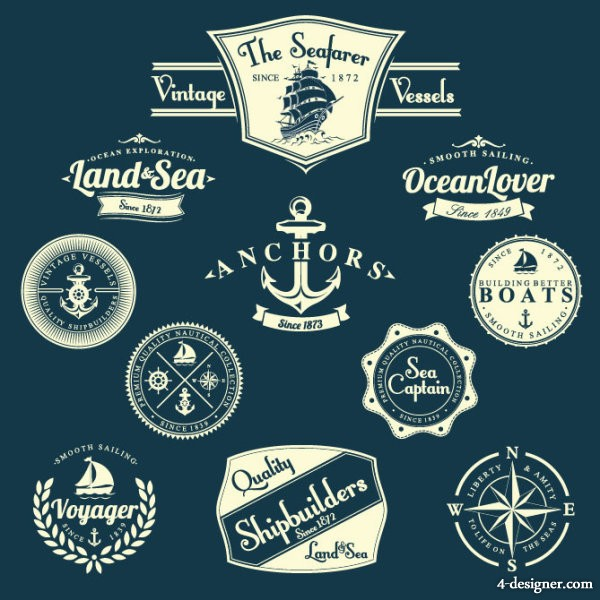 Paste the classic nautical marked 04 vector material