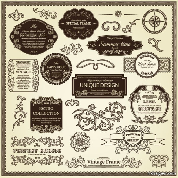 Paste the classic pattern standard 01 vector material