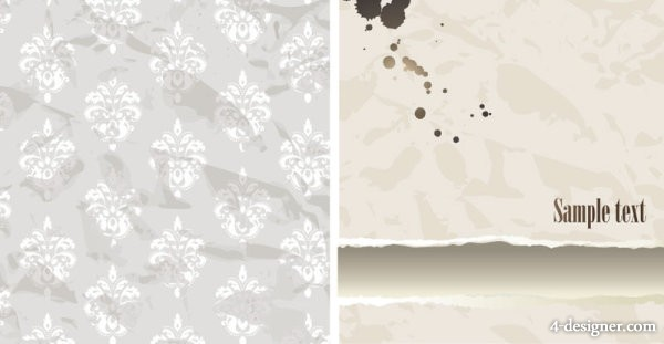 Pattern wallpaper background 01   vector material