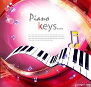 Piano keys gorgeous background 02   vector material