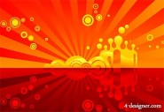 Red theme vector material
