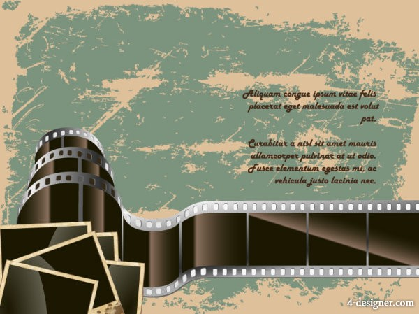 Retro film 05 vector material