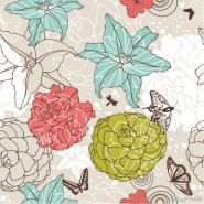 Seamless floral background Vector 01   Vector