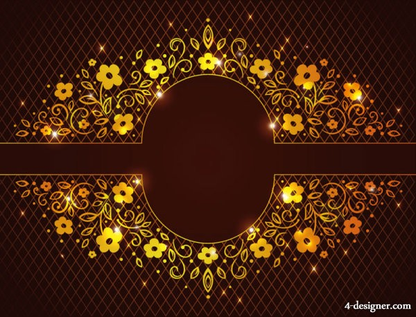 Shine pattern background 01   vector material