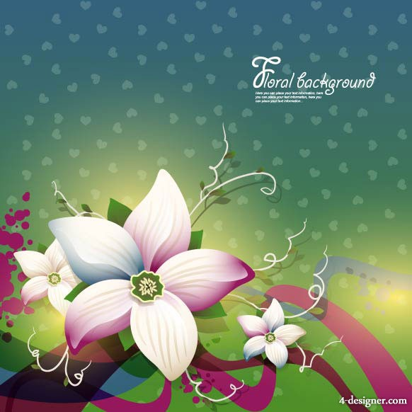 The beautifully floral design background 01   vector material