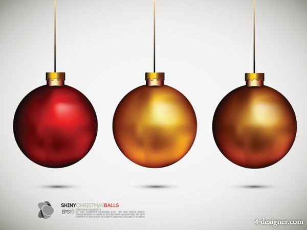 The exquisite Christmas ball background 02   vector material