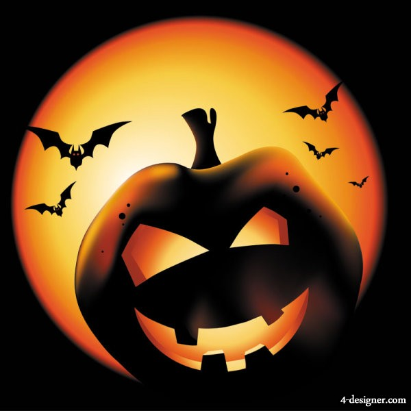 The exquisite Halloween poster background 01   vector material