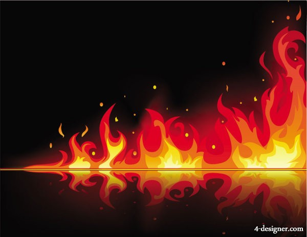 The exquisite flame vector material 02